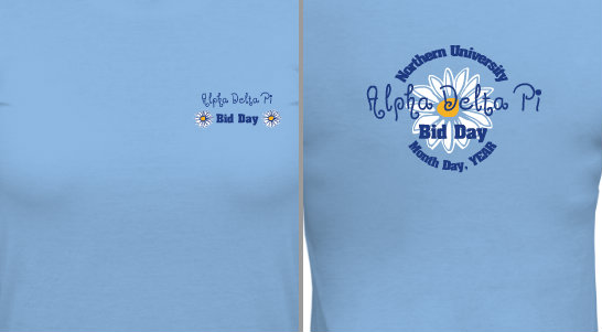 Bid Day Design Idea