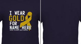 Gold for Childhood Cancer Awareness Design Idea