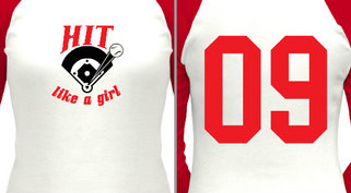 Hit like a girl design idea
