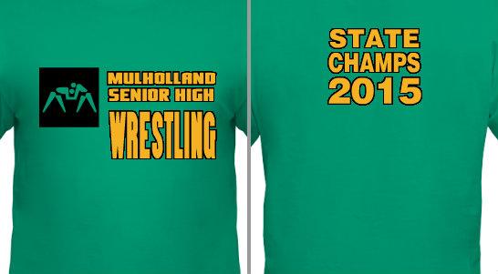 Wrestling State Champs Design Idea