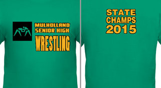 Wrestling State Champs Design Idea