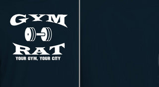 Gym Rat Barbell Design idea