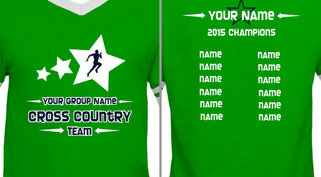 Green Cross Country Team Design Idea