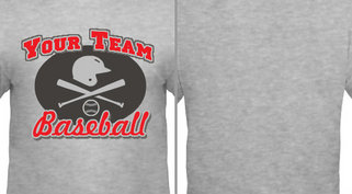 Helmet Bat Baseball Team Design Idea
