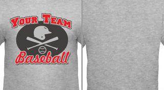 Helmet Bat Baseball Team Design Idea