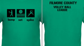 Volleyball Bump Set Spike Design Idea