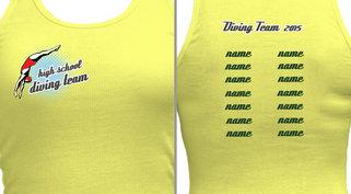 Women's Diving T-shirt Design