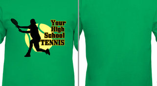 High School Tennis Player Design Idea