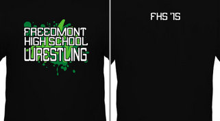 Green Graffiti HS Wrestling Design Idea