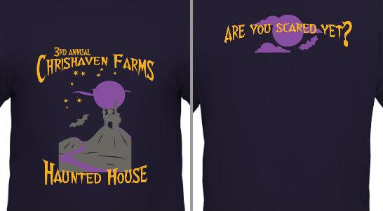 custom printed designs halloween haunted
