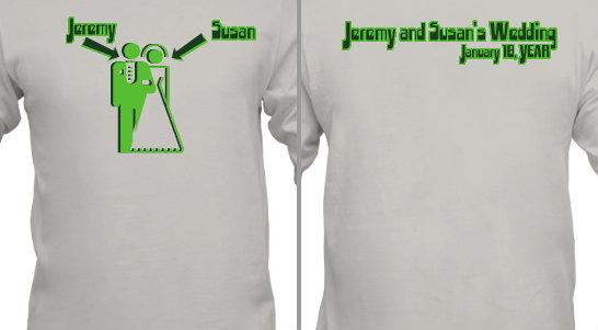 Wedding Bride and Groom Design Idea