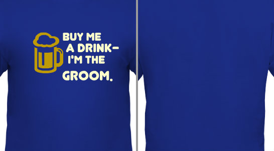 Groom Drink Design Idea