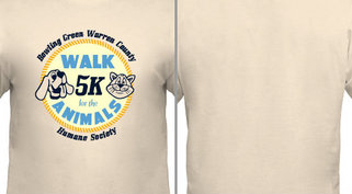5K walk for Animals Design Idea