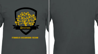 Tree Badge Ribbon Family Reunion Design Idea