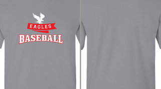 Eagles Ribbon Baseball Design Idea