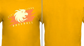 Lion Mascot Baseball