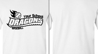 Dragon Text Fire Baseball Design Idea