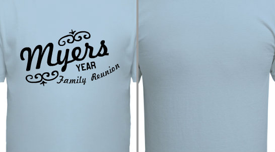 Myers Script decorative family reunion Design Idea