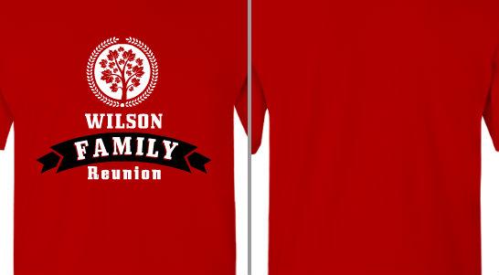 Tree Circle Wilson Family Reunion Design Idea