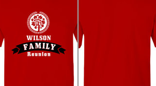 Tree Circle Wilson Family Reunion Design Idea