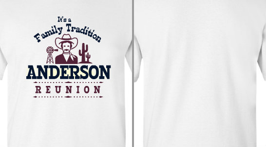 Cowboy Anderson Family reunion design idea