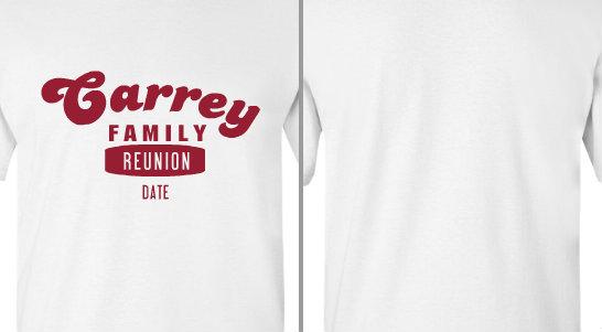 Carrey family reunion design idea