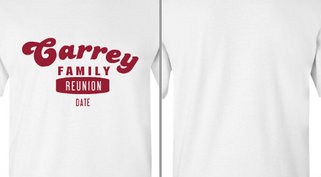Carrey family reunion design idea