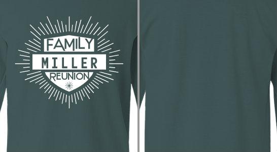 badge lines Miller family reunion design idea