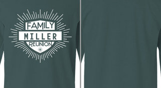 badge lines Miller family reunion design idea
