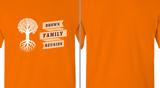 Ribbon tree Brown family reunion design idea