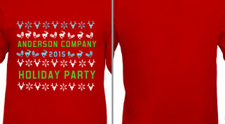 Company Holiday Party Pattern Design Idea