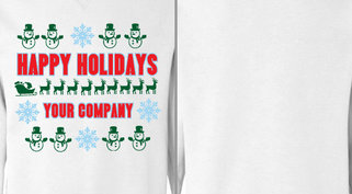 Snowman Happy Holidays Design Idea