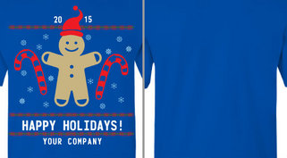 Gingerbread Man Happy Holidays Design Idea