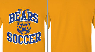 Bears Mascot Soccer Design Idea