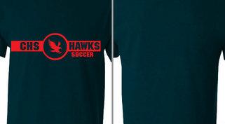 Hawks Mascot Soccer Design Idea