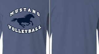 Mustang Mascot Volleyball