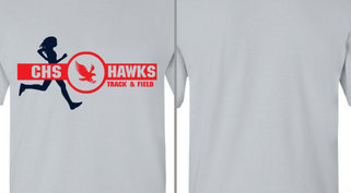 Hawks Mascot Track & Field Design Idea