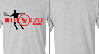 Hawks Mascot Tennis Design Idea