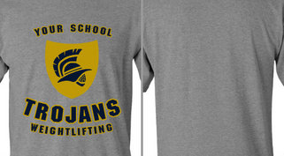 Trojans badge weightlifting design idea