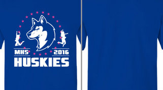 Huskies mascot Dance Team Design idea