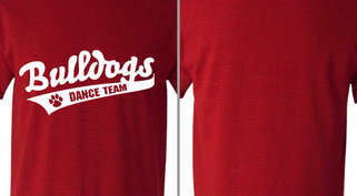 Bulldogs text Dance Team Design Idea