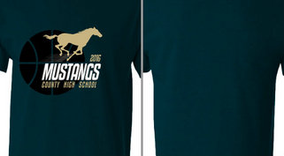 Mustangs Basketball High School Design Idea