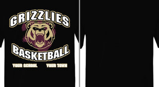 Grizzlies Bear Mascot Basketball Design Idea