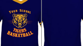 Tigers Mascot basketball design idea