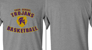 Tour School Trojans Basketball Design Idea