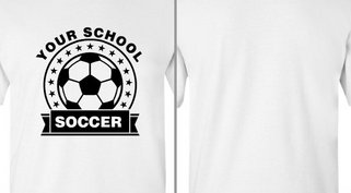 Your School Soccer Ribbon Stars Design Idea