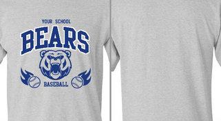 Bear Mascot Baseball flames Design Idea