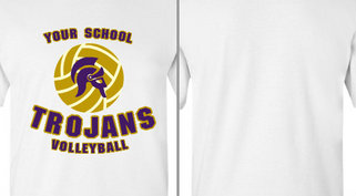 Trojans Helmet Mascot Volleyball Design Idea