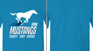 Mustang Mascot Swimming Design Idea
