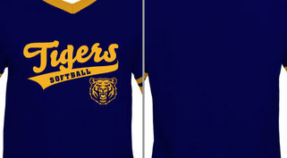 Tigers Text Softball Mascot Design Idea